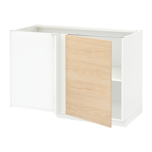 METOD - corner base cabinet with shelf, white/Askersund light ash effect | IKEA Hong Kong and Macau - PE637683_S4