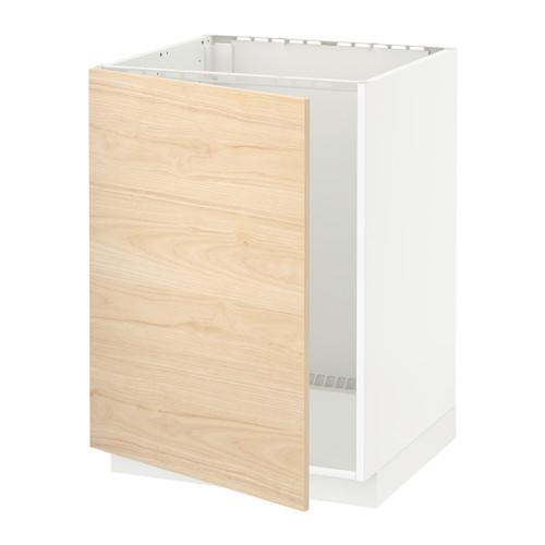 METOD - base cabinet for sink, white/Askersund light ash effect   IKEA Hong Kong and Macau - PE637820_S4