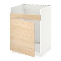 METOD - HAVSEN單星盆底櫃, 白色/Askersund 淺梣木紋 | IKEA 香港及澳門 - PE637829_S3