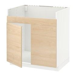 METOD - HAVSEN雙星盆底櫃, white/Askersund light ash effect | IKEA 香港及澳門 - PE637669_S3