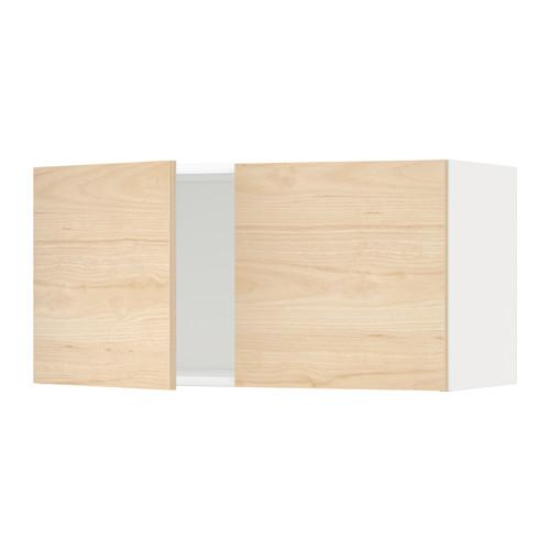 METOD - 雙門吊櫃, white/Askersund light ash effect | IKEA 香港及澳門 - PE637730_S4