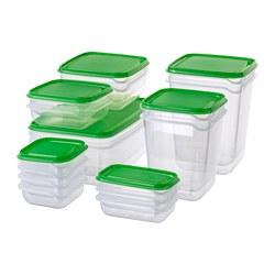 PRUTA - 食物盒,17件套裝, 透明/綠色 | IKEA 香港及澳門 - PE728174_S3