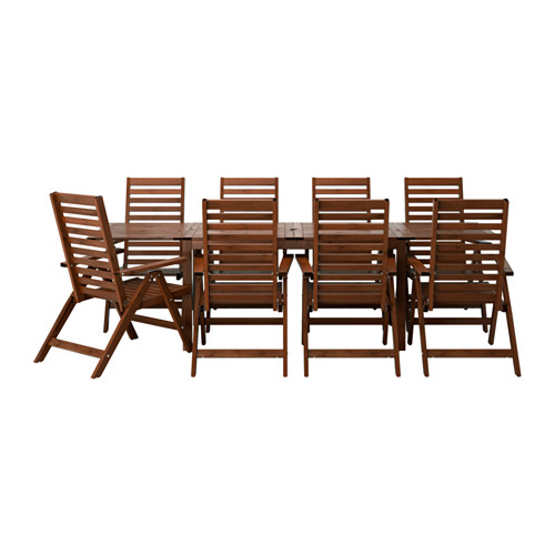 ÄPPLARÖ - table+8 reclining chairs, outdoor, brown stained | IKEA Hong Kong and Macau - PE513317_S4