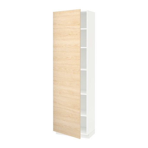 METOD - high cabinet with shelves, white/Askersund light ash effect | IKEA Hong Kong and Macau - PE637750_S4
