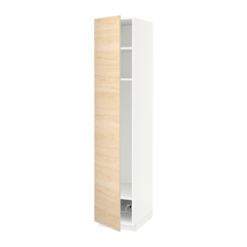 METOD high cabinet w shelves/wire basket