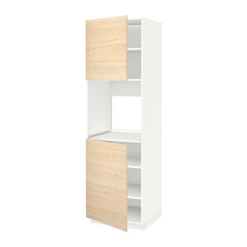 METOD - high cab f oven w 2 doors/shelves, white/Askersund light ash effect | IKEA Hong Kong and Macau - PE637766_S4