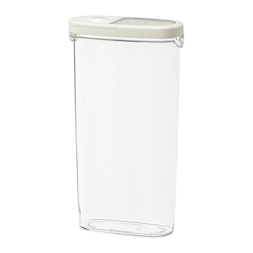 IKEA 365+ - 食物盒, 透明/白色, 2.3 升   IKEA 香港及澳門 - PE728254_S4