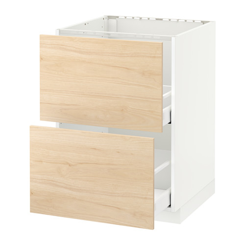 METOD/MAXIMERA - base cab f sink+2 fronts/2 drawers, white/Askersund light ash effect | IKEA Hong Kong and Macau - PE637933_S4