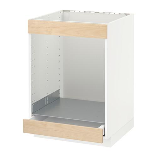 METOD/MAXIMERA - 爐具及焗爐用地櫃連抽屜, white/Askersund light ash effect | IKEA 香港及澳門 - PE637937_S4
