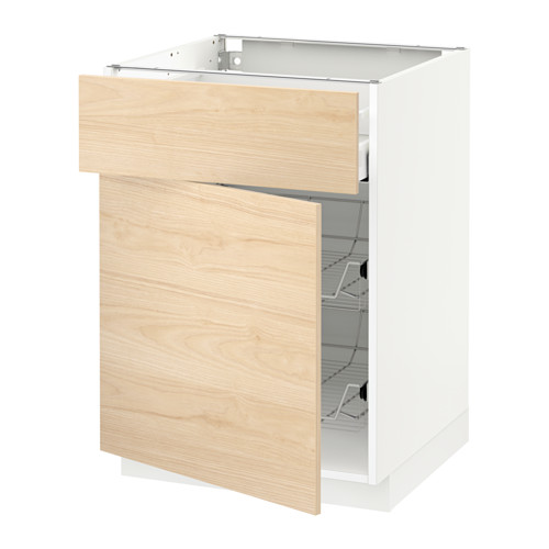 METOD/MAXIMERA 地櫃連鋼條籃/抽屜/門