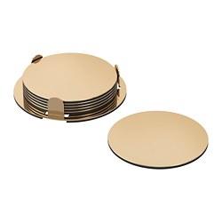 GLATTIS - coasters with holder, brass-colour | IKEA Hong Kong and Macau - PE728367_S3