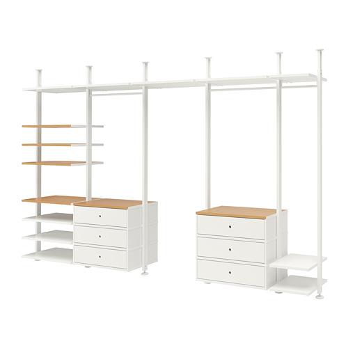 ELVARLI - 5 sections, white/bamboo | IKEA Hong Kong and Macau - PE728378_S4