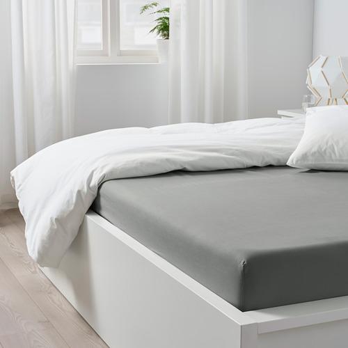 DVALA - 雙人床笠, 淺灰色 | IKEA 香港及澳門 - PE771823_S4