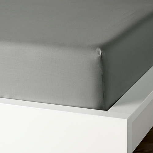 DVALA - 雙人床笠, 淺灰色 | IKEA 香港及澳門 - PE771833_S4