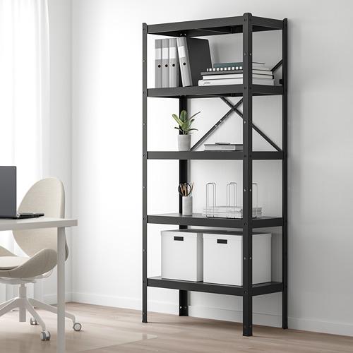 BROR - shelving unit, 85x40x190 cm, black | IKEA Hong Kong and Macau - PE718503_S4