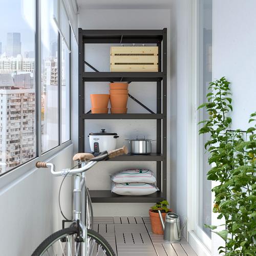 BROR - shelving unit, 85x40x190 cm, black | IKEA Hong Kong and Macau - PE718510_S4