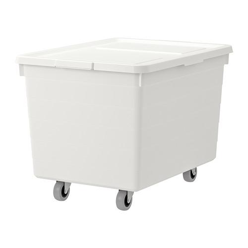 SOCKERBIT - box with castors and lid, white | IKEA Hong Kong and Macau - PE728491_S4