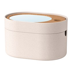 SAXBORGA - storage box with mirror lid, plastic cork | IKEA Hong Kong and Macau - PE728530_S3