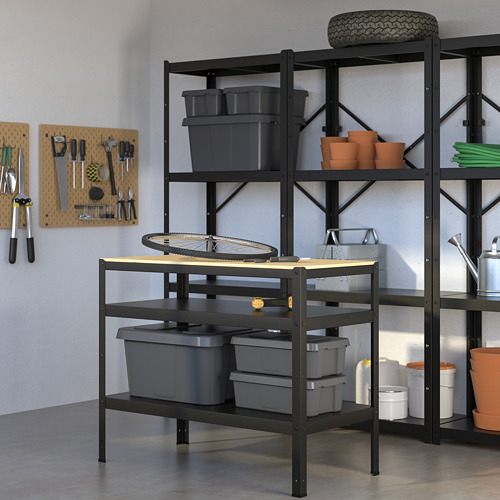 BROR - 工作檯, 55x110x88 cm, 黑色/松木夾板   IKEA 香港及澳門 - PE682228_S4
