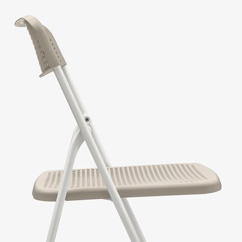 TORPARÖ - 椅子,室內/戶外用, 可摺合 白色/米黃色   IKEA 香港及澳門 - PE771899_S4