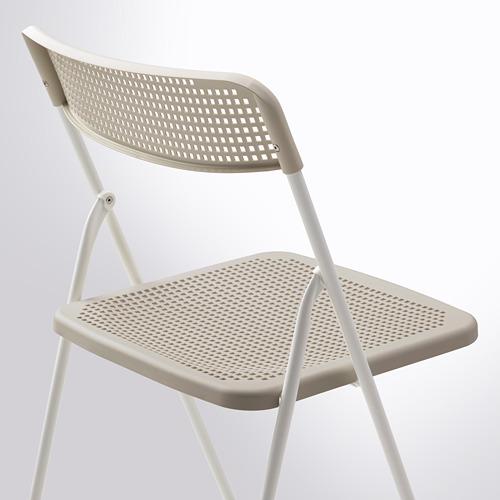 TORPARÖ - 椅子,室內/戶外用, 可摺合 白色/米黃色   IKEA 香港及澳門 - PE771900_S4