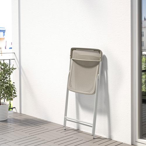 TORPARÖ - 椅子,室內/戶外用, 可摺合 白色/米黃色   IKEA 香港及澳門 - PE771901_S4