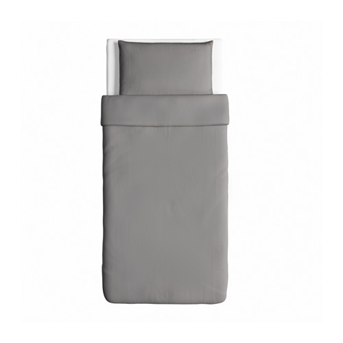 ÄNGSLILJA - 被套枕袋套裝, 灰色, 150x200/50x80 cm    IKEA 香港及澳門 - PE575528_S4