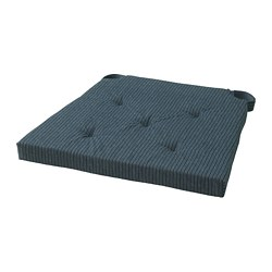 JUSTINA - chair pad, dark blue/striped | IKEA Hong Kong and Macau - PE685600_S3
