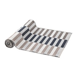 MITTBIT - 裝飾用檯布, 黑色 米黃色/白色 | IKEA 香港及澳門 - PE728632_S3