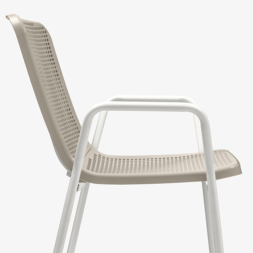 TORPARÖ - chair with armrests, in/outdoor, white/beige | IKEA Hong Kong and Macau - PE771903_S4