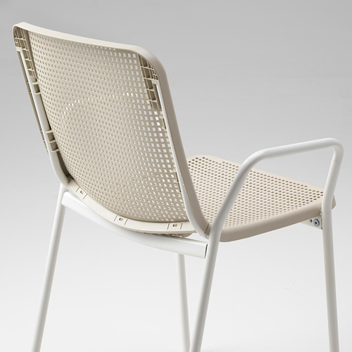 TORPARÖ - chair with armrests, in/outdoor, white/beige | IKEA Hong Kong and Macau - PE771904_S4