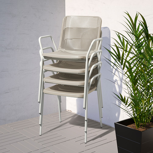TORPARÖ - chair with armrests, in/outdoor, white/beige | IKEA Hong Kong and Macau - PE771905_S4
