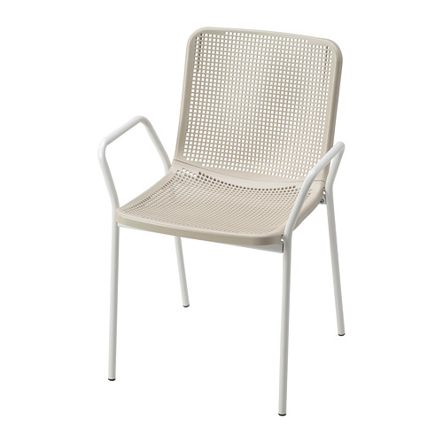 TORPARÖ - chair with armrests, in/outdoor, white/beige | IKEA Hong Kong and Macau - PE771902_S4