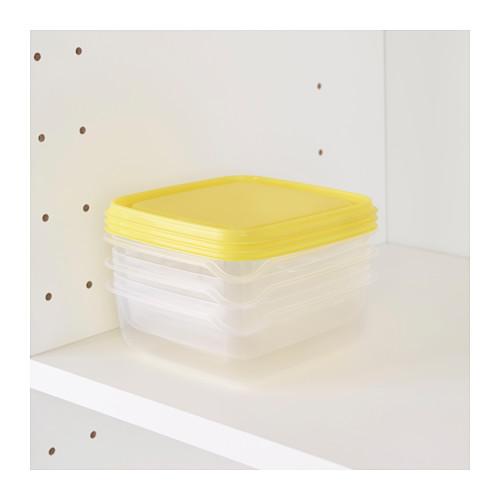 PRUTA - food container, transparent/yellow | IKEA Hong Kong and Macau - PE638421_S4