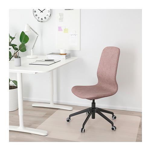 LÅNGFJÄLL - 辦公椅, Gunnared 淺粉褐色/黑色   IKEA 香港及澳門 - PE685866_S4