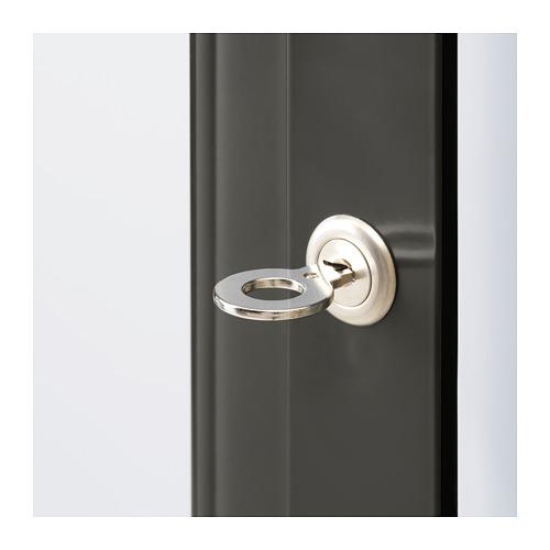 FABRIKÖR - glass-door cabinet, dark grey | IKEA Hong Kong and Macau - PE685883_S4