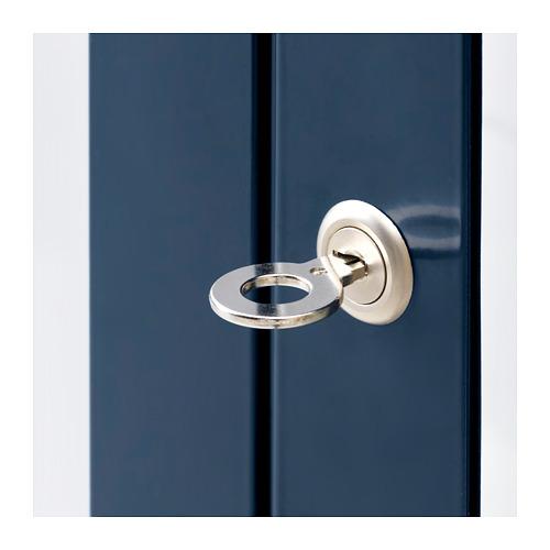 FABRIKÖR - glass-door cabinet, black-blue | IKEA Hong Kong and Macau - PE685884_S4