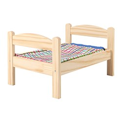DUKTIG - doll's bed with bedlinen set, pine/multicolour | IKEA Hong Kong and Macau - PE728756_S3