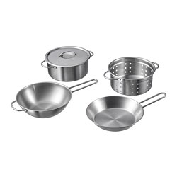 DUKTIG - 5-piece toy cookware set, stainless steel colour | IKEA Hong Kong and Macau - PE728808_S3