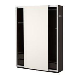 PAX - wardrobe, black-brown/Hasvik white | IKEA Hong Kong and Macau - PE402494_S3
