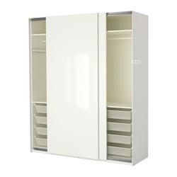 PAX - wardrobe, white/Hasvik high-gloss/white | IKEA Hong Kong and Macau - PE402345_S3