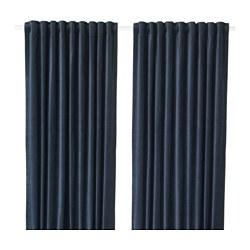 SANELA - 半遮光窗簾,一對, 深藍色 | IKEA 香港及澳門 - PE638576_S3