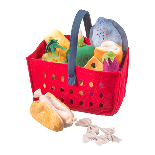 LÅTSAS 玩具購物籃,12件套裝