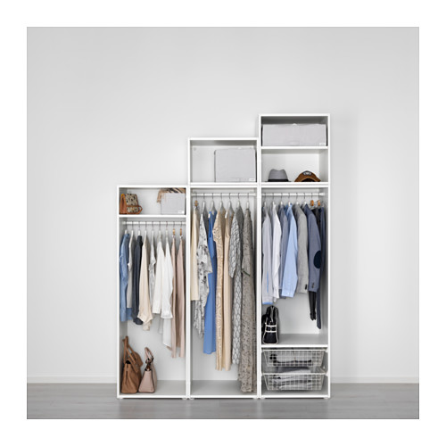 PLATSA - wardrobe, white/Skatval dark grey | IKEA Hong Kong and Macau - PE638610_S4
