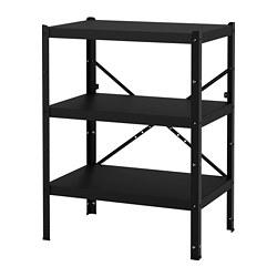 BROR - 層架組合, 85x55x110 cm, 黑色   IKEA 香港及澳門 - PE688387_S3