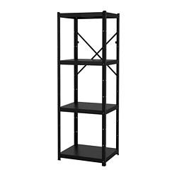 BROR - 層架組合, 65x55x190 cm, 黑色   IKEA 香港及澳門 - PE688400_S3