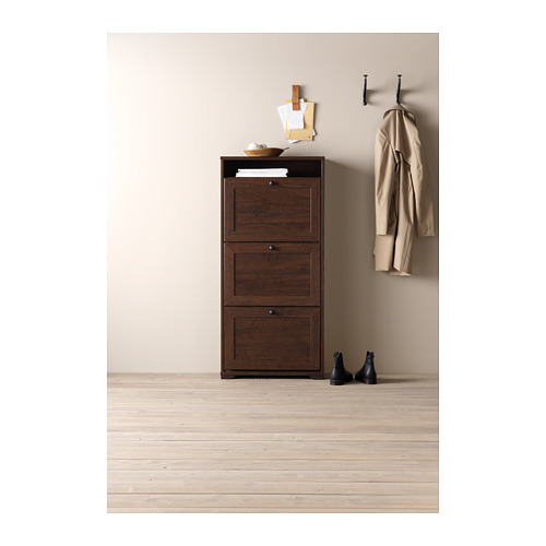 BRUSALI - shoe cabinet with 3 compartments, brown   IKEA Hong Kong and Macau - PH134921_S4