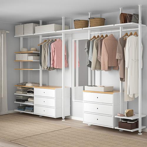 ELVARLI - 5 sections, white/bamboo | IKEA Hong Kong and Macau - PE728964_S4