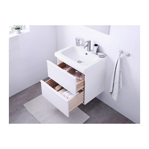 ODENSVIK/GODMORGON - wash-stand with 2 drawers, high-gloss white/Dalskär tap | IKEA Hong Kong and Macau - PE570505_S4