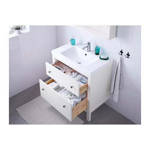 ODENSVIK/HEMNES 雙抽屜洗手盆櫃
